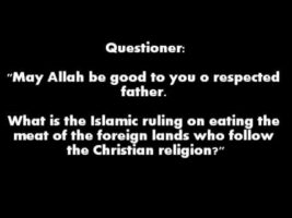 The Ruling on Eating the Meat of the Christians   Shaykh Saalih al-Fawzaan