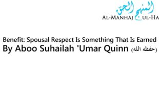 Benefit: Spousal Respect Is Something That Is Earned – By 'Umar Quinn